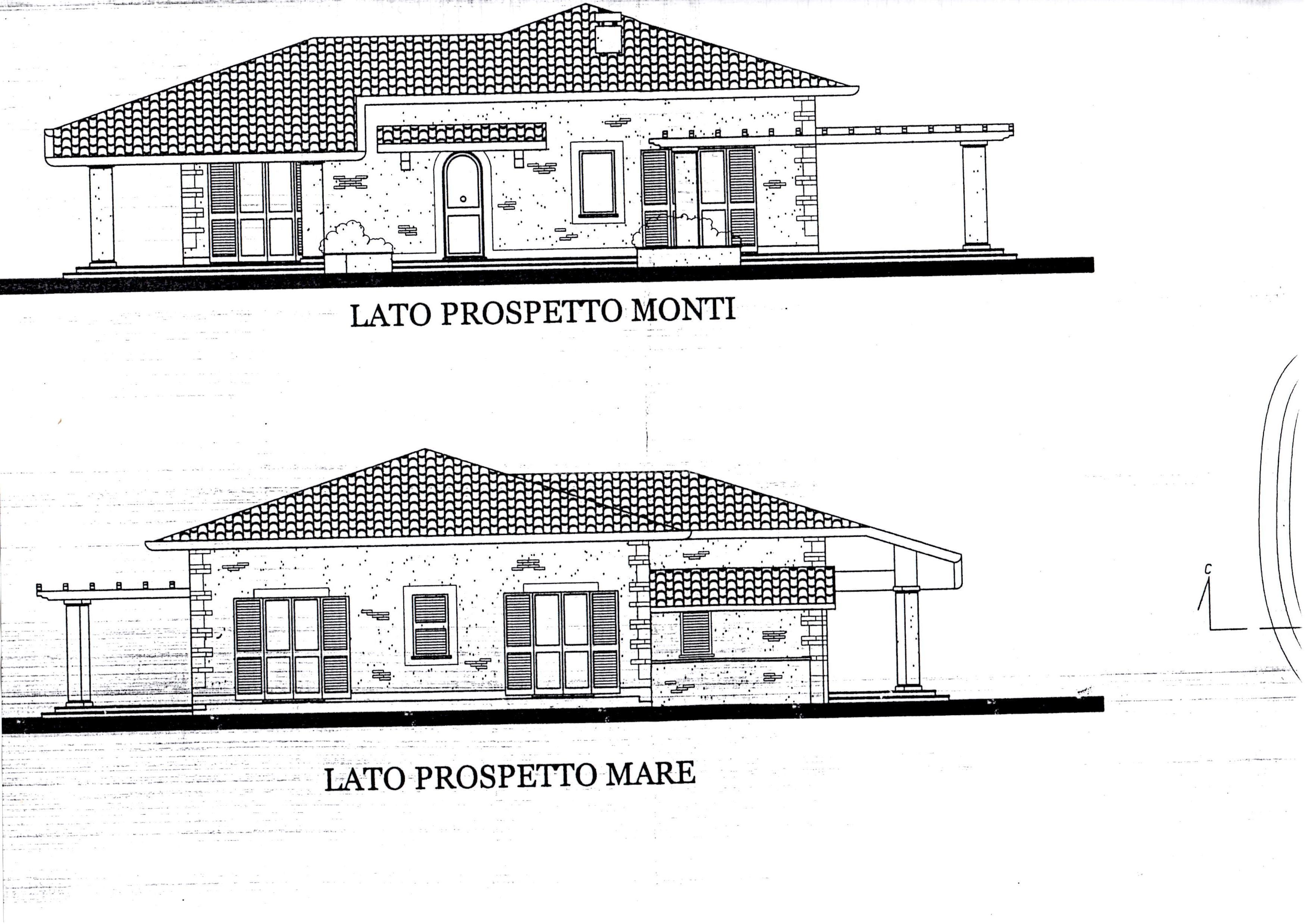 Prospetti ville pianta di circa mq dimensioni x with prospetti ville best prospetti ville with - Finestre prospetto ...