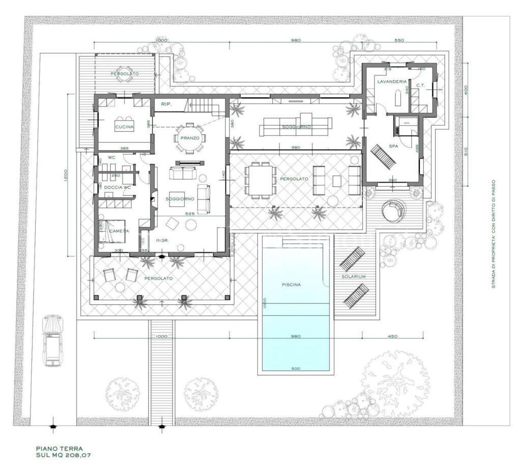 Villa da ristrutturare con piscina a forte dei marmi for Piani a pianta singola da 5 piani